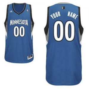 Camiseta NBA Swingman Personalizadas Road Azul pizarra - Minnesota Timberwolves - Adolescentes