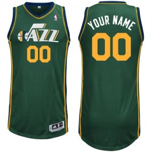 Utah Jazz Adidas Alternate Verde Camiseta de la NBA - Authentic Personalizadas - Hombre