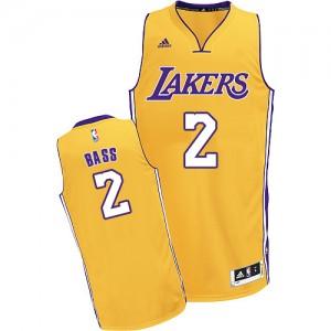Los Angeles Lakers Adidas Home Oro Swingman Camiseta de la NBA - Brandon Bass #2 - Hombre