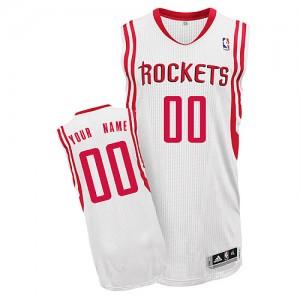 Houston Rockets Adidas Home Blanco Camiseta de la NBA - Authentic Personalizadas - Hombre