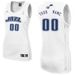 Camiseta NBA Home Utah Jazz Blanco - Mujer - Personalizadas Swingman