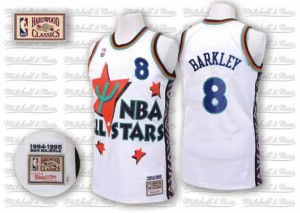 Camiseta NBA Phoenix Suns Charles Barkley #8 Throwback 1995 All Star Adidas Blanco Authentic - Hombre