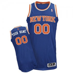 Camiseta NBA New York Knicks Authentic Personalizadas Road Adidas Azul real - Adolescentes
