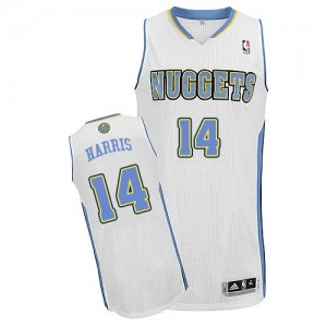 Camiseta NBA Denver Nuggets Gary Harris #14 Home Adidas Blanco Authentic - Hombre