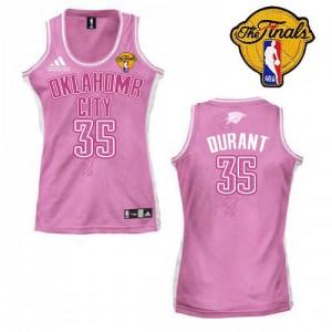 Oklahoma City Thunder Adidas Fashion Finals Patch Rosado Swingman Camiseta de la NBA - Kevin Durant #35 - Mujer