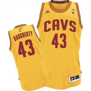 Camisetas Baloncesto Hombre NBA Cleveland Cavaliers Alternate Authentic Brad Daugherty #43 Oro