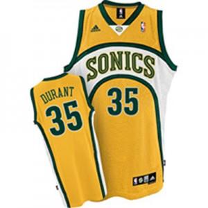 Camiseta NBA Oklahoma City Thunder Kevin Durant #35 SuperSonics Adidas Amarillo Authentic - Hombre