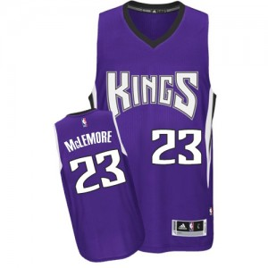 Camiseta NBA Sacramento Kings Ben McLemore #23 Road Adidas Púrpura Authentic - Hombre