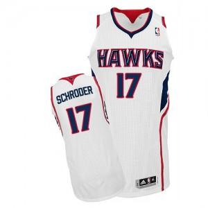Camiseta NBA Home Atlanta Hawks Blanco Authentic - Hombre - #17 Dennis Schroder
