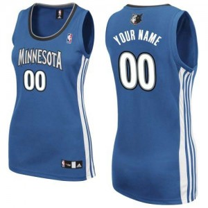Camiseta NBA Authentic Personalizadas Road Azul pizarra - Minnesota Timberwolves - Mujer