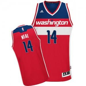 Camiseta NBA Road Washington Wizards Rojo Swingman - Hombre - #14 Gary Neal