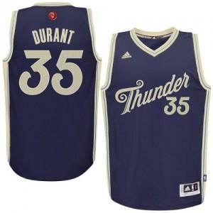Hombre Camiseta Kevin Durant #35 Oklahoma City Thunder Adidas 2015-16 Christmas Day Azul marino Swingman