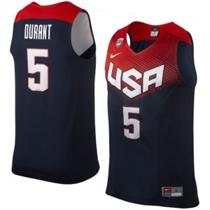 Team USA Nike 2014 Dream Team Azul marino Authentic Camiseta de la NBA - Kevin Durant #5 - Hombre