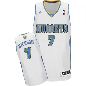 Camiseta NBA Denver Nuggets JJ Hickson #7 Home Adidas Blanco Swingman - Hombre