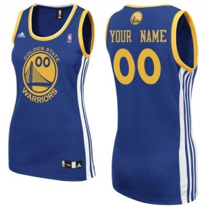 Golden State Warriors Adidas Road Azul real Camiseta de la NBA - Swingman Personalizadas - Mujer