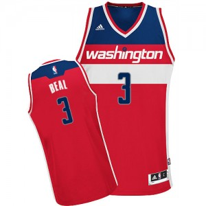 Camiseta NBA Road Washington Wizards Rojo Swingman - Hombre - #3 Bradley Beal