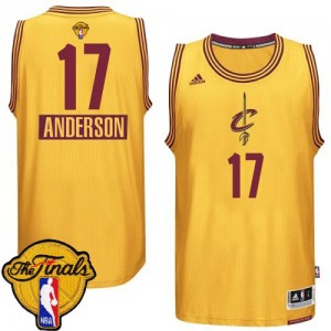 Camiseta NBA 2014-15 Christmas Day 2015 The Finals Patch Cleveland Cavaliers Oro Authentic - Hombre - #17 Anderson Varejao
