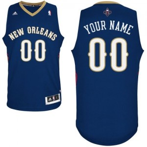Camiseta NBA Authentic Personalizadas Road Azul marino - New Orleans Pelicans - Mujer