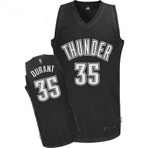 Camiseta Authentic Kevin Durant #35 Oklahoma City Thunder Blanco negro - Hombre