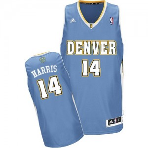 Camiseta NBA Denver Nuggets Gary Harris #14 Road Adidas Azul claro Swingman - Hombre