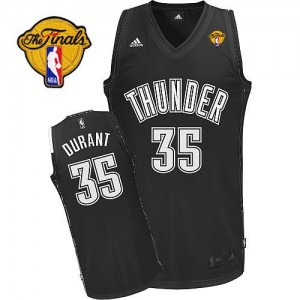Camiseta NBA Oklahoma City Thunder Kevin Durant #35 Shadow Finals Patch Adidas Negro Swingman - Hombre