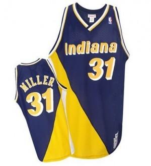 Camiseta NBA Throwback Indiana Pacers Azul marino / dorado Authentic - Hombre - #31 Reggie Miller