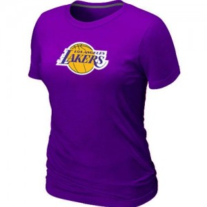 T-Shirts NBA Big & Tall Púrpura - Los Angeles Lakers - Mujer