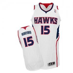 Camiseta NBA Home Atlanta Hawks Blanco Authentic - Hombre - #15 Al Horford
