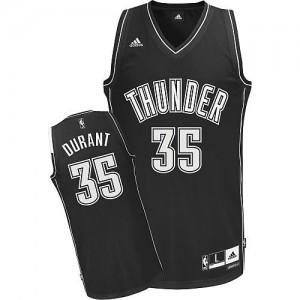 Camiseta NBA Oklahoma City Thunder Kevin Durant #35 Shadow Adidas Negro Swingman - Hombre