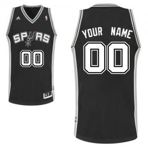 San Antonio Spurs Adidas Road Negro Camiseta de la NBA - Swingman Personalizadas - Hombre