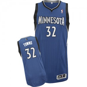 Minnesota Timberwolves Adidas Road Azul pizarra Authentic Camiseta de la NBA - Karl-Anthony Towns #32 - Hombre