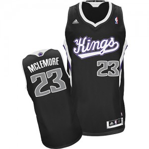 Camiseta NBA Sacramento Kings Ben McLemore #23 Alternate Adidas Negro Swingman - Hombre