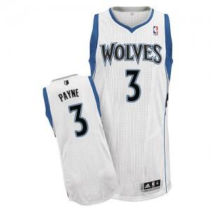 Minnesota Timberwolves Adidas Home Blanco Authentic Camiseta de la NBA - Adreian Payne #3 - Hombre