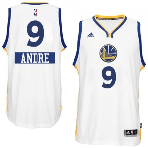 Camisetas Baloncesto Hombre NBA Golden State Warriors 2014-15 Christmas Day Authentic Andre Iguodala #9 Blanco
