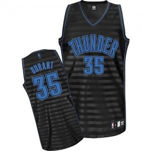 Oklahoma City Thunder Adidas Groove Gris oscuro Swingman Camiseta de la NBA - Kevin Durant #35 - Mujer