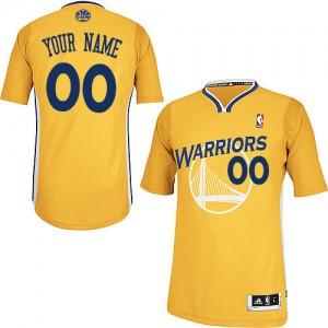 Golden State Warriors Adidas Alternate Oro Camiseta de la NBA - Authentic Personalizadas - Mujer
