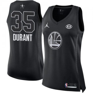 Camiseta Jordan 2018 All-Star Game Golden State Warriors Negro Swingman - Mujer - #35 Kevin Durant