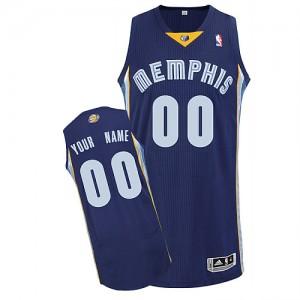 Camisetas Baloncesto Hombre NBA Memphis Grizzlies Road Authentic Personalizadas Azul marino