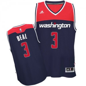 Camiseta NBA Alternate Washington Wizards Azul marino Authentic - Hombre - #3 Bradley Beal