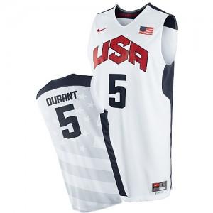 Team USA Nike 2012 Olympics Blanco Swingman Camiseta de la NBA - Kevin Durant #5 - Hombre