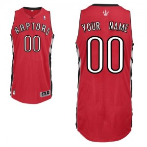 Toronto Raptors Adidas Road Rojo Camiseta de la NBA - Authentic Personalizadas - Hombre