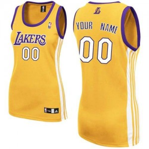 Camisetas Baloncesto Mujer NBA Los Angeles Lakers Home Authentic Personalizadas Oro