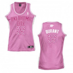 Oklahoma City Thunder Adidas Fashion Rosado Authentic Camiseta de la NBA - Kevin Durant #35 - Mujer