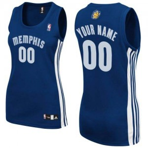 Camisetas Baloncesto Mujer NBA Memphis Grizzlies Road Authentic Personalizadas Azul marino