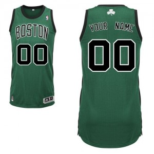 Camiseta NBA Boston Celtics Authentic Personalizadas Alternate Adidas Verde (negro No.) - Adolescentes