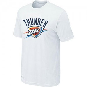 T-Shirts NBA Oklahoma City Thunder Big & Tall Blanco - Hombre