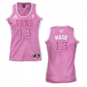Camiseta NBA Fashion Phoenix Suns Rosado Authentic - Mujer - #13 Steve Nash