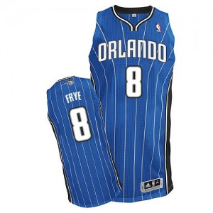 Orlando Magic Adidas Road Azul real Authentic Camiseta de la NBA - Channing Frye #8 - Hombre