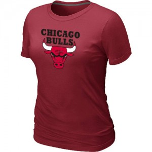T-Shirt Primary Logo Mujer NBA Chicago Bulls Big & Tall Rojo