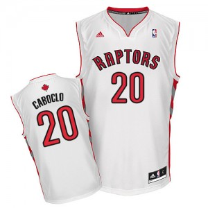 Camiseta Swingman Bruno Caboclo #20 Toronto Raptors Home Blanco - Hombre